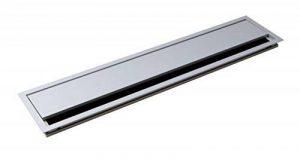 Passe-câble Argent Bureau Eco rectangulaire avec joint à brosse–Passage de câble Aluminium Argent Anodisé–Câble Boîte 100x 450mm pour répondre | Meubles ferrures de gedotec® de la marque Gedotec image 0 produit