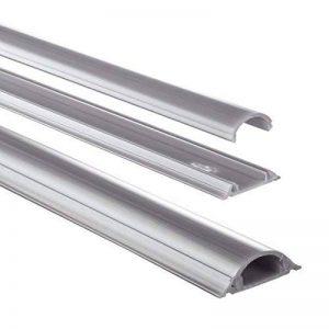 Passe câble en PVC, semi-circulaire, 100/3,5/0,9 cm, gris de la marque Hama image 0 produit
