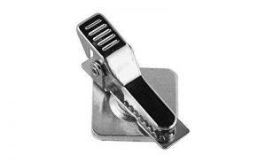 Pince métal krokodilklammer lot de 50 autocollants auto rotatif sur embase tout métal pinces pour badges, cartes de visite, ausweise... de la marque Schmalz Werbeservice image 0 produit