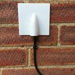 Plaque murale passe-câble noire de chez Sky Satellites-Permet de garder vos câbles entrants et sortants bien rangés de la marque SSL image 1 produit