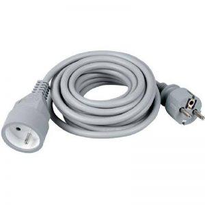 Prolongateur câble souple Dhome - H05 VV-F 3G 1,5 mm² - Gris - Longueur 5 m de la marque DHOME image 0 produit