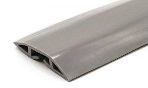 Protecteur de câbles de plancher en PVC gris - 2 mètres en longueur - Flexible pour couvrir les câbles, cordons et fils - Idéal pour la maison, le bureau, l'entrepôt ou les concerts - Facile à dérouler et à ouvrir de la marque Linnai Products image 0 produit
