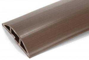 Protecteur de câbles de plancher en PVC marron - 2 mètres en longueur - Flexible pour couvrir les câbles, cordons et fils - Idéal pour la maison, le bureau, l'entrepôt ou les concerts - Facile à dérouler et à ouvrir de la marque Linnai Products image 0 produit