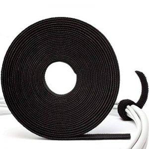Purovi® 5m Manager Câbles - Microfibre Bande Auto-Adhésif pour Câbles - Gestionnaire de Câble de la marque Purovi image 0 produit