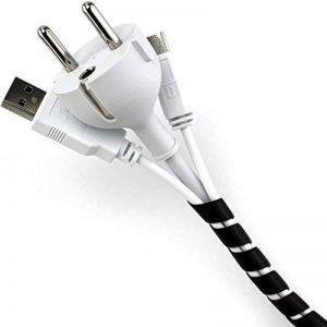 Purovi® Cache Câble Universel en Spirale, Tuyau en spirale 6 mm - 60 mm - Longueur : 10 m (noir) de la marque Purovi image 0 produit