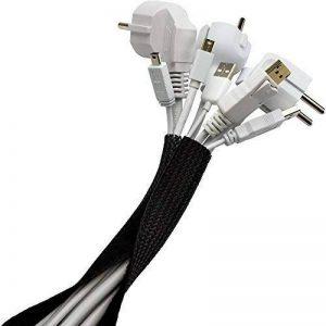 Purovi® Home | Tuyau de câble universel avec fermeture auto-agrippantes | 1,8 m de longueur et diamètre extensible jusqu'à max. 2.5cm | Veste de câble conduit en PE de la marque Purovi image 0 produit