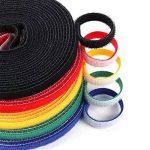Qincling 5Rouleaux Ruban adhésif de Fixation, réutilisable Sangles de câble Wire Ties Crochet et Boucle Attaches de câble en Nylon Fil Organiseur pour Cordons de Gestion des câbles de la marque Qincling image 3 produit