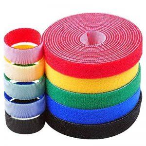 Qincling 5Rouleaux Ruban adhésif de Fixation, réutilisable Sangles de câble Wire Ties Crochet et Boucle Attaches de câble en Nylon Fil Organiseur pour Cordons de Gestion des câbles de la marque Qincling image 0 produit