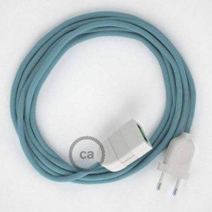 Rallonge électrique avec câble textile RC53 Coton Océan 2P 10A Made in Italy. - 5 Mètres, Blanc de la marque Creative-Cables image 0 produit