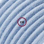 Rallonge électrique avec câble textile RC53 Coton Océan 2P 10A Made in Italy. - 5 Mètres, Blanc de la marque Creative-Cables image 2 produit