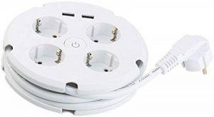 Revolt Prise 6prises: Multiprise avec enrouleur de câble, 4prises & 2ports USB (2,1A) (Prise 4voies avec port de chargement USB) de la marque revolt image 0 produit