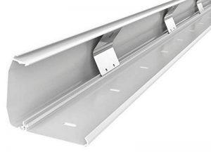c/âble de s/écurit/é blanc SCOS Smartcosat 10 m Gaine de c/âble vissable en plastique PVC pour montage mural