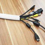RICOO Cache-Cable TV en polyester avec fermeture velcro scratch Z9085W-5 | Passe Cable | Range Cable | Goulotte electrique | Attache cable | Passe fil | Rangement cable | Longueur: 5m | Couleur: blanc de la marque RICOO image 1 produit