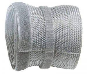 RICOO Cache-Cable TV en Polyester avec Fermeture Velcro Scratch Z9135G-2 | Passe Cable | Range Cable | Goulotte Electrique | Attache Cable | Passe Fil | Rangement Cable | Longueur: 2m | Couleur: Gris de la marque RICOO image 0 produit