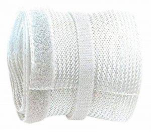 RICOO Cache-Cable TV en polyester avec fermeture velcro scratch Z9135W-2 | Passe Cable | Range Cable | Goulotte electrique | Attache cable | Passe fil | Rangement cable | Longueur: 2m | Couleur: blanc de la marque RICOO image 0 produit