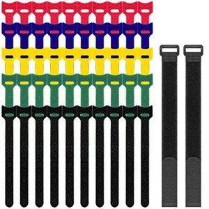 senhai Lot de 52 Attaches de Câbles en Velcro, Lien Bandes Rubans Adhésifs pour la Rangement de Câbles Attacher Sacs de la marque senhai image 0 produit
