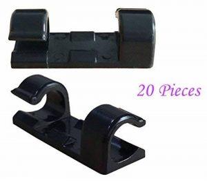 SFTlite Câble Clips Gestion des Câble Drop Fil Support l'Adhésif Double Face( avec 20 PCS) pour Voiture Maison Bureau Ordinateur PC Câble de Charge (Noir) de la marque SFTlite image 0 produit