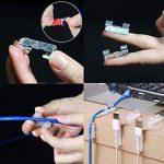 SFTlite Câble Clips Gestion des Câble Drop Fil Support l'Adhésif Double Face( avec 20 PCS) pour Voiture Maison Bureau Ordinateur PC Câble de Charge (Transparent) de la marque SFTlite image 3 produit