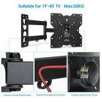 SIMBR Support Mural TV Orientable Inclinable Télévision de 19-45 Pouces Convient Écran LED LCD Plasma Plat VESA Max 200×200mm Capacité Max 35kg de la marque SIMBR image 4 produit