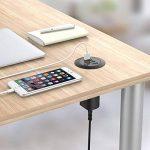 """Simpeak 30W 4-Port USB Chargeurs de Bureau Supports 2.0"""" / 2.5"""" Grommet Hole avec Câble d'alimentation pour Maison et Bureau de la marque Simpeak image 3 produit"""