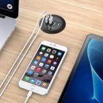"""Simpeak 30W 4-Port USB Chargeurs de Bureau Supports 2.0"""" / 2.5"""" Grommet Hole avec Câble d'alimentation pour Maison et Bureau de la marque Simpeak image 4 produit"""