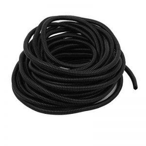 sourcingmap® 6,5 mm x 10mm en plastique ondulé flexible Tuyau Flexible gaine noire Tube 15m long de la marque sourcing map image 0 produit