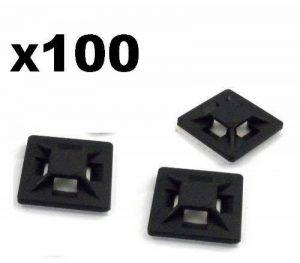 Stonges Paquet de 100 attaches de câble noires Attaches de fermeture à glissière autobloquantes de 100 mm x 2,5 mm Attaches de câble en nylon noir Durable Usage intensif de la marque Stonges image 0 produit