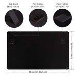 Tapis de Souris XXL, Jelly Comb Sous Main 855*580 mm avec Support pour Smartphone, Organisateur de Câble / Stylo / Carte, Noir de la marque Jelly Comb image 1 produit