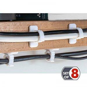 Tatkraft Jaw Clips Rangement Câble Support Brosse à Dents Auto Adhésif Kit de 8 pcs en Plastique sans Perceuse de la marque Tatkraft image 0 produit