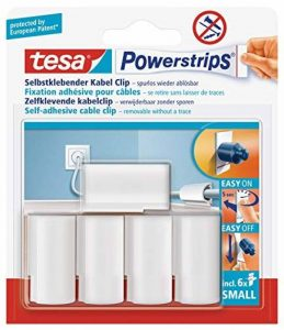 tesa Powerstrips 58035 - 5 fixations pour câbles - Blanc de la marque Tesa image 0 produit