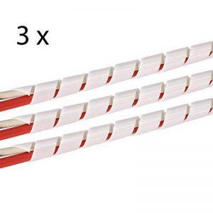 TPFNet 3 Pièces Gaine Spirale 4-50 mm - Gaine Range Cable - Blanc - 10 M de la marque TPFNet image 0 produit