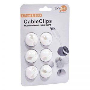 TPFNet 6 Pièces Câble Clips de Bureau - Attache-Câble pour Bureau - Blanc de la marque TPFNet image 0 produit