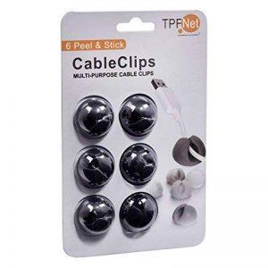 TPFNet 6 Pièces Câble Clips de Bureau - Attache-Câble pour Bureau - Noir de la marque TPFNet image 0 produit