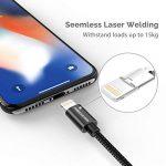 UNBREAKcable Câble iPhone [MFI certifié Apple] Chargeur iPhone en Nylon iPhone XS/XS Max/XR/X/8/8 Plus/7/7 Plus/6s/6s Plus/6/6 Plus/5c/5s/5, iPad - Noir de la marque UNBREAKcable image 3 produit