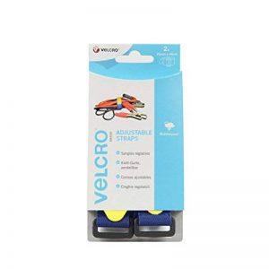 VELCRO Brand Sangle ajustable 25mm x 46cm x 2 Bleu de la marque Velcro image 0 produit