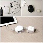 XMDZ Enrouleur Câble Automatique Écouteurs Rangement Portable en Plastique Blanc de la marque XMDZ image 4 produit