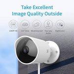 YI Caméra d'extérieur 1080p Caméra de Sécurité/Surveillance Extérieure Imperméable avec Vision Nocturne Commande Vocale Service Cloud Disponible - Blanche de la marque YI image 1 produit