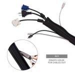 YOSH Cache Câbles Rangement Cache Cables Flexible 19 Pouces (48 cm) Masquer Câbles de TV/Ordinateur/Audio/USB, Organisateur Protecteur de Câbles(4 Pack Fermeture Éclair)[Garantie à Vie] de la marque YOSH image 2 produit