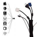 YOSH Cache Câbles Rangement Cache Cables Flexible 19 Pouces (48 cm) Masquer Câbles de TV/Ordinateur/Audio/USB, Organisateur Protecteur de Câbles(4 Pack Fermeture Éclair)[Garantie à Vie] de la marque YOSH image 4 produit