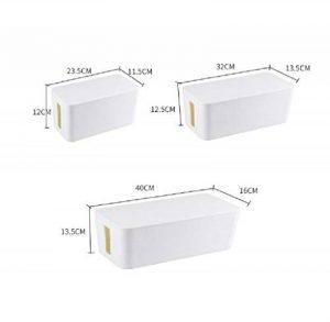 Yosposs câble Boîte de rangement Kz5327-w976Boîte de gestion de câble pour câble d'extension pour câble avec support de câble 400× 160× 135mm solide Boîte de câble–Lot de 3(Blanc) de la marque YOSPOSS image 0 produit