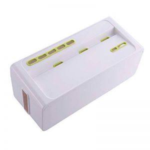 Yosposs câble Boîte de rangement Kz5327-w976Organiseur de cordon, Power Strip Cover/boîte de rangement pour câble/câble Boîte de rangement avec support pour smartphone pour adaptateurs, Hubs USB, câble TV/ordinateur 27* 14* 13cm de la marque YOSPOSS image 0 produit