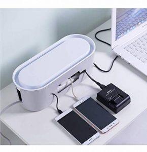 Yosposs câble Boîte de rangement Kz5327-w976PVC DIY multifonctionnel Tidy Organiseur de câbles Boîte de rangement pour stockage de câble de cordon d'alimentation Power Strip Coque Boîte de rangement pour câble avec support pour smartphone pour adaptateur image 0 produit