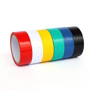 Ytian 6 Pcs Ruban Electrique PVC Isolant – Rouge Jaune Bleu Vert Noir Blanc 3M de la marque Ytian image 0 produit
