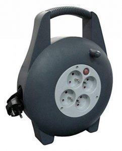 Zenitech - Enrouleur HO5VV-F 4 prises 3G1,5 10m + coupe-circuit - avec poignée de la marque Zenitech image 0 produit