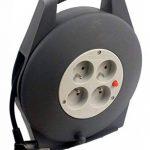 Zenitech - Enrouleur HO5VV-F 4 prises 3G1,5 10m + coupe-circuit - avec poignée de la marque Zenitech image 1 produit