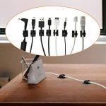 Zilong Câble Clips Gestion des Câbles en Nylon avec l'Adhésif Double Face( avec 50 PCS) pour Voiture Maison Bureau Ordinateur PC Câble de Charge (Noir) de la marque Zilong image 3 produit