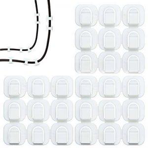 Zoiibuy Lot de 27 Embases Adhésives, Attache de Câble 16 × 16MM en Plastique Serre-Câbles Autoadhésif pour Maison Bureau Voiture et Plus de la marque Zoiibuy image 0 produit