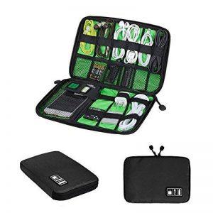 Zuoao Organisateur des Accessoires Electroniques Portable Pochette Rangement Multifonctionnel Sac Organisateur de Câbles Imperméable Noir de la marque Zuoao image 0 produit